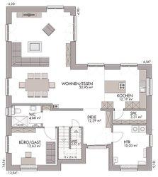 Mehrgenerationenhaus (Stadtvilla 220) - Grundriss Erdgeschoss