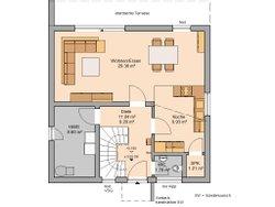 Grundriss Erdgeschoss Bauhaus Novum von Kern-Haus