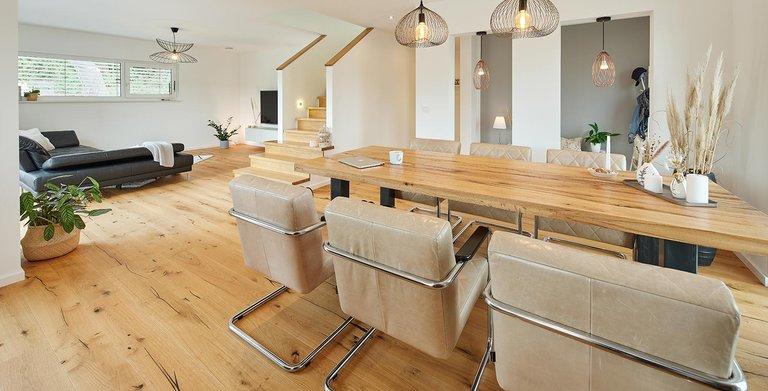 Offener Wohnbereich | LUXHAUS Walmdach 160 Copyright: