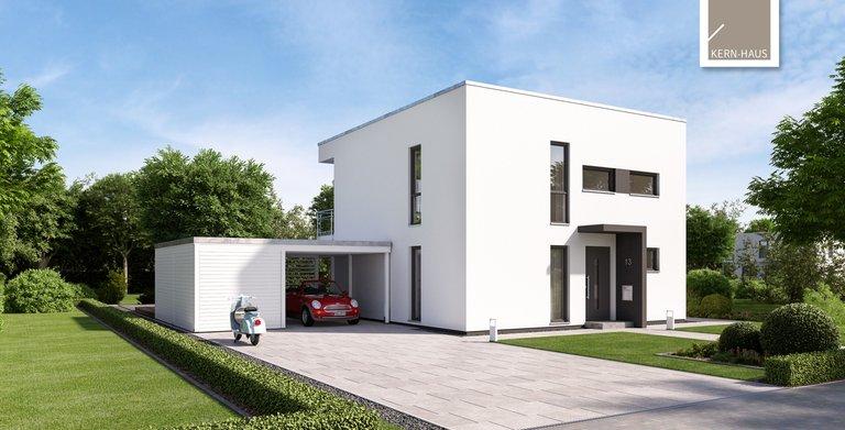 Moderne Elganz im Bauhausstil mit dem Bauhaus Novum von Kern-Haus