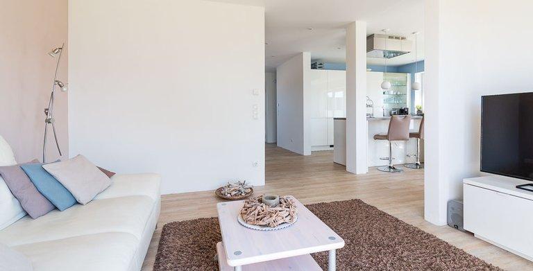 Pultdachhaus 130 – Wohnzimmer