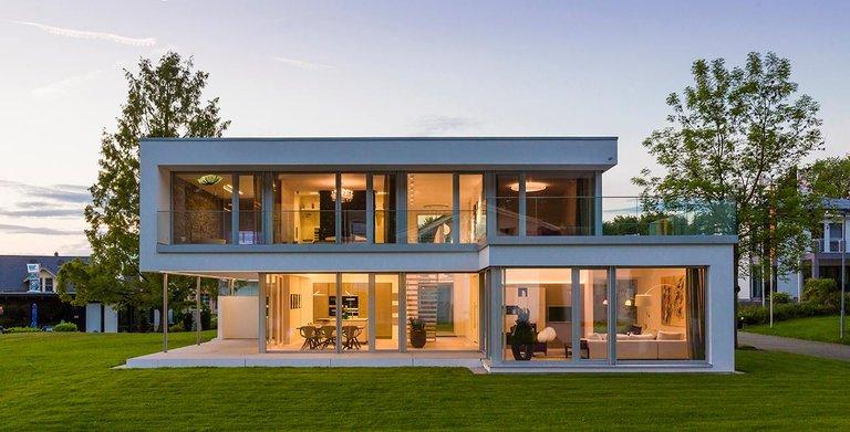Flachdachhaus KUBOS Bad Vilbel von KAMPA GmbH