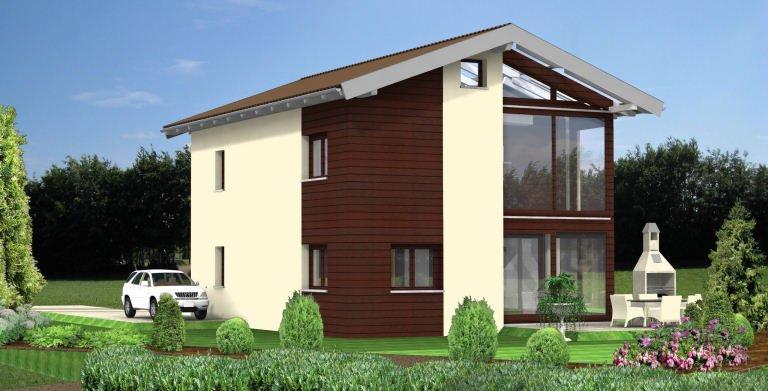 Planungsbeispiel Einfamilienhaus 128H20 von Bio-Solar-Haus