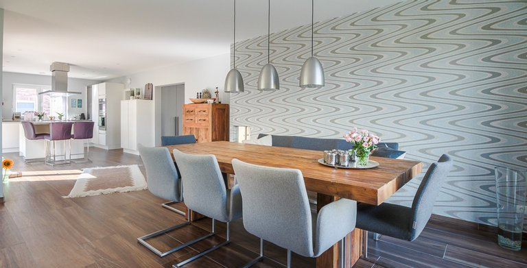 Mehrgenerationenhaus (Stadtvilla 220) - Küche und Essbereich Copyright: