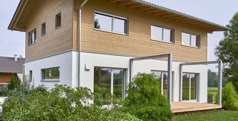 Concepthaus CASA VITA / Aussenansicht 02 Sonnleitner Holzbauwerke Copyright: