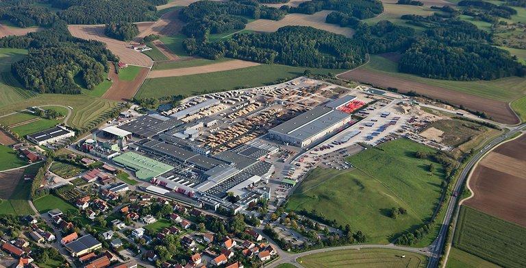 Stammwerk am Firmensitz in Hohenstein-Oberstetten